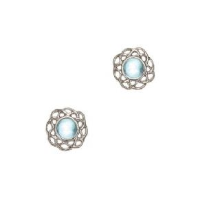 Celtic Birthstone Earrings March - Aquamarine 2014